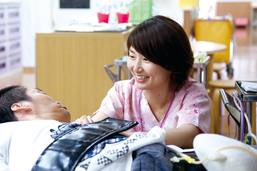 看護スタッフ 生駒千恵子さん